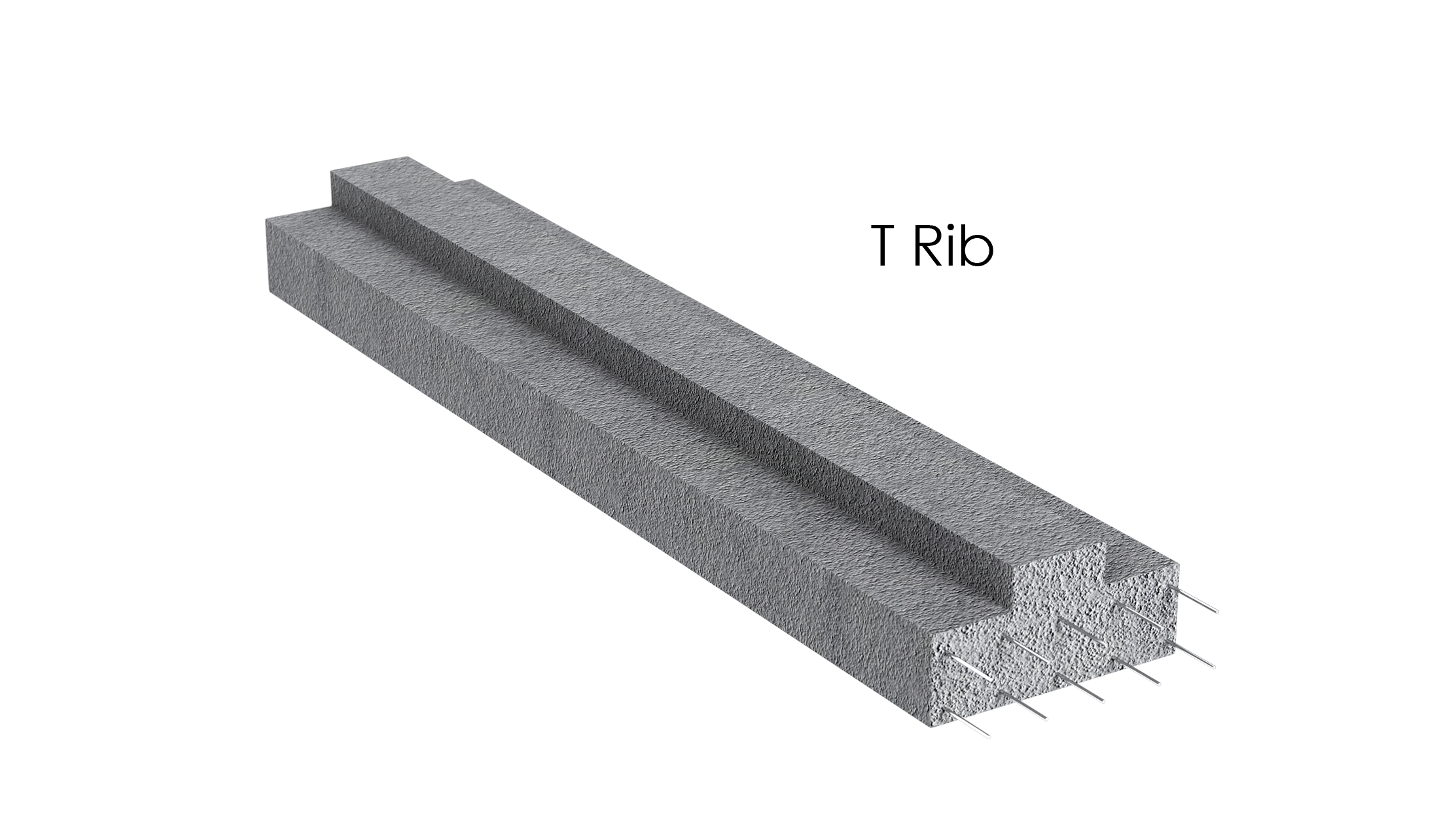 T-Rib lintel beam