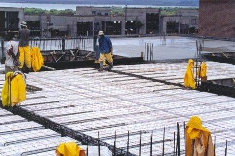 What is a polystyrene concrete slab