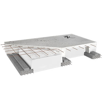royal concrete polystyrene rib and block